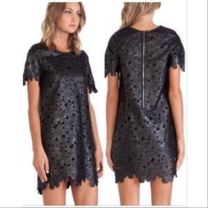 JOA Los Angeles Laser Cut Floral Mini Dress XS EUC